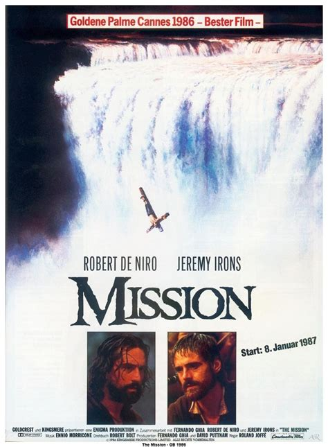 The Mission, Roland Joffé (1986) | Movie posters, Movies