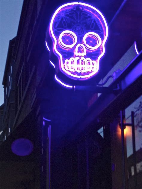 SEEN IN VANCOUVER #451: Stylized Neon Skull Lands At The