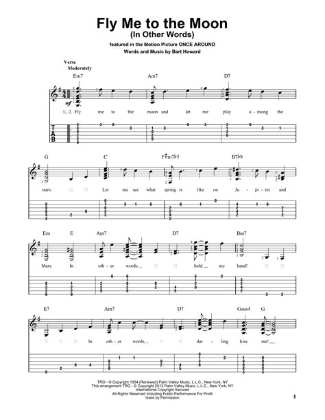 Fly Me To The Moon (In Other Words) Sheet Music | Tony