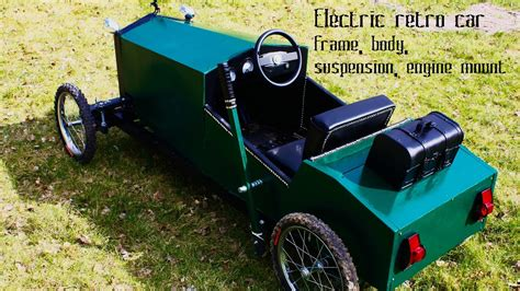 Homemade electric go kart for kids in vintage style - part