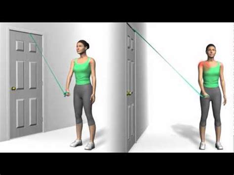 Shoulder Adduction with Theraband Strengthening - YouTube