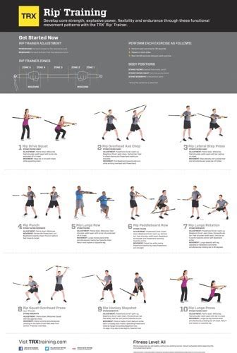 TRX EXERCISE CHART - RIP TRAINING - Charts / Posters - J