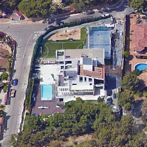 Lionel Messi's House in Castelldefels, Spain (Google Maps
