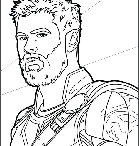 Thor In Thor Ragnarok Coloring Page - Free Printable
