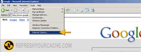 Refresh your cache for Internet Explorer 6