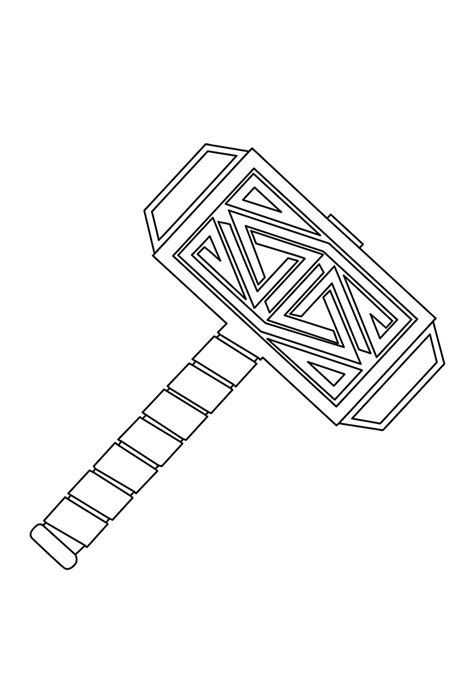 The God Hammer Coloring Page - Free Printable Coloring