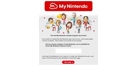 New Nintendo email comes with 200 My Nintendo Platinum