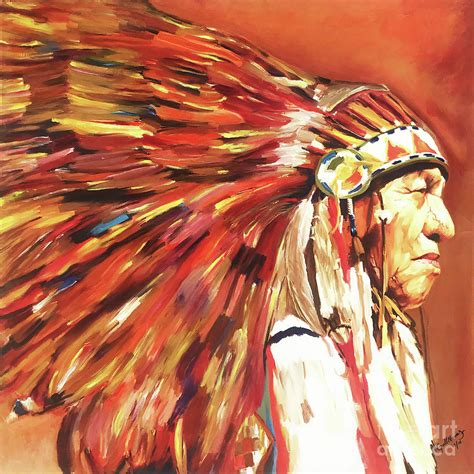 Native American Warriors 01 Painting by Gull G