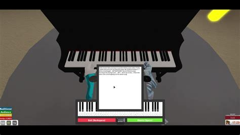 MCR Welcome to the black parade ROBLOX PIANO (Begining/G