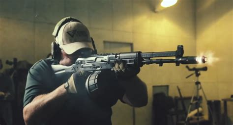 The AK-107 Balanced-Action Rifle In Slow Motion - Larry