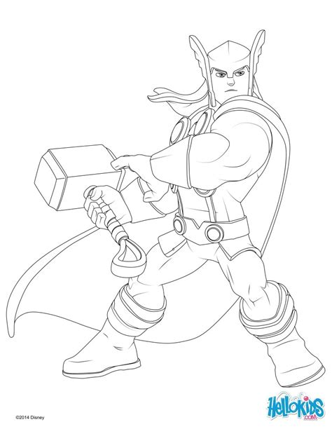 Thor coloring pages - Hellokids