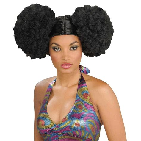 Afro Puffs Wig Adult Womens 70s Disco Costume Accessory