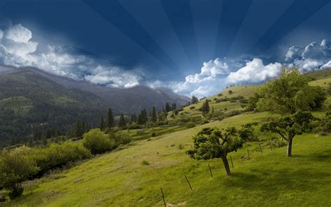 Hill Top Mountain Sky Wallpapers   HD Wallpapers   ID #6255