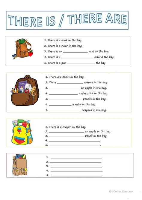 There is / There are worksheet - Free ESL printable