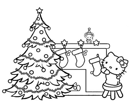 Hello Kitty Christmas Coloring Pages - GetColoringPages
