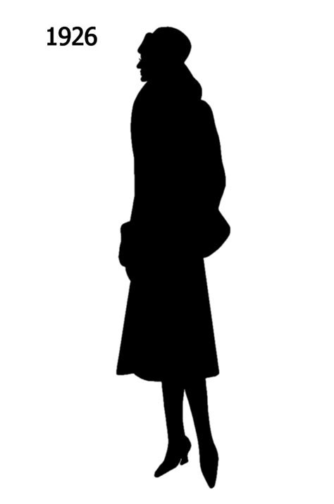 Black Silhouettes 1920 to 1930 in Costume History