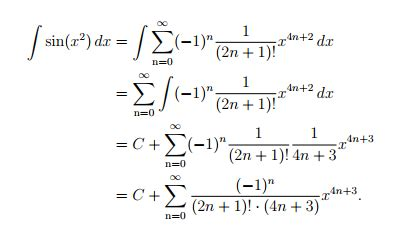 calculus - Integral of Summation (power series