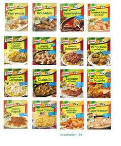 Knorr FIX- different variations e