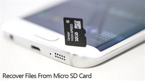 Recover Files Photos from Damaged/Formatted Micro SD Card