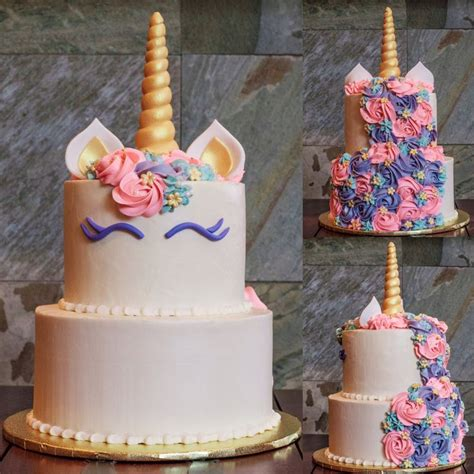 A unicorn cake for a one year old's birthday, made by For